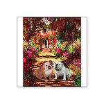 The Path / Two English Bulldogs Square Sticker 3
