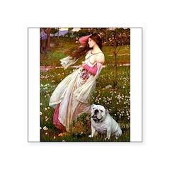 Windflowers / English BD (#9) Square Sticker 3