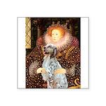Queen / English Setter Square Sticker 3
