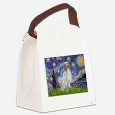 English Setter / Starry Night Canvas Lunch Bag