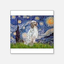 "English Setter / Starry Night Square Sticker 3"" x"