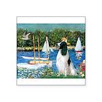 Sailboats / Eng Springer Square Sticker 3