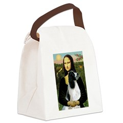 Mona Lisa/English Springer Canvas Lunch Bag