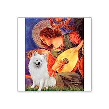 "Mandolin / Eskimo Spitz #1 Square Sticker 3"" x 3"""