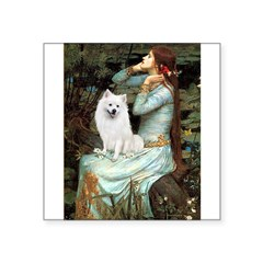 "Ophelia / Eskimo Spitz #1 Square Sticker 3"" x 3"""