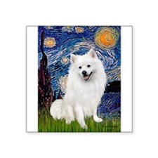 "Starry / Eskimo Spitz #1 Square Sticker 3"" x 3"""