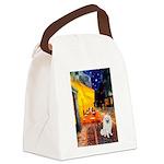 Cafe / Eskimo Spitz #1 Canvas Lunch Bag