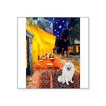Cafe / Eskimo Spitz #1 Square Sticker 3