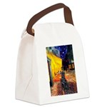Cafe / Flat Coated Retriever Canvas Lunch Bag