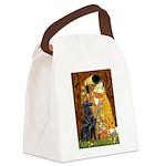 Kiss / Flat Coated Retriever Canvas Lunch Bag