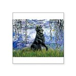 Lilies / Flat Coated Retrieve Square Sticker 3