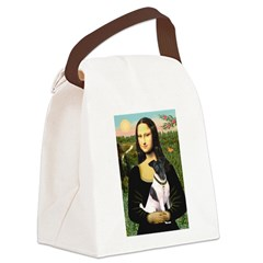 Mona's Smooth Fox Terrier (Bl Canvas Lunch Bag