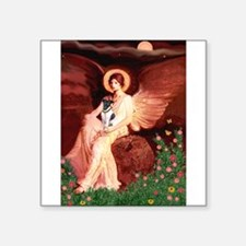 "Angel / Smooth T (#1) Square Sticker 3"" x 3"""