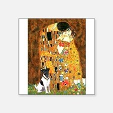 "Kiss / Fox Terrier Square Sticker 3"" x 3"""
