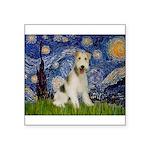 Starry / Fox Terrier (W) Square Sticker 3
