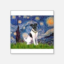 "Starry / Fox Terrier (#1) Square Sticker 3"" x 3"""