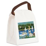 Sailboats / Fr Bulldog(f) Canvas Lunch Bag