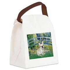 Bridge / Fr Bulldog (f) Canvas Lunch Bag