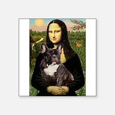 """Mona / Fr Bulldog(brin) Square Sticker 3"""" x 3"""""""