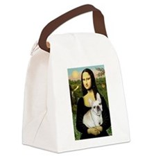 Mona / Fr Bulldog (f) Canvas Lunch Bag