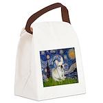 Starry / Fr Bulldog (f) Canvas Lunch Bag