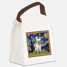 Starry/French Bulldog Canvas Lunch Bag