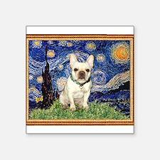 "Starry/French Bulldog Square Sticker 3"" x 3"""