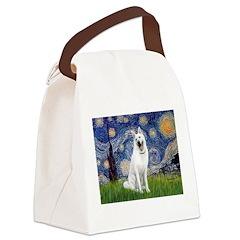 Starry-White German Shepherd Canvas Lunch Bag