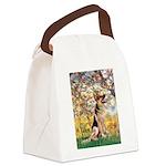 Spring & German Shepherd Canvas Lunch Bag