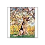 Spring & German Shepherd Square Sticker 3