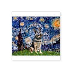 Starry / German Shepherd 10 Square Sticker 3