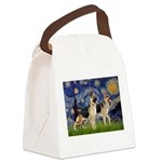 Starry / 2 German Shepherds Canvas Lunch Bag