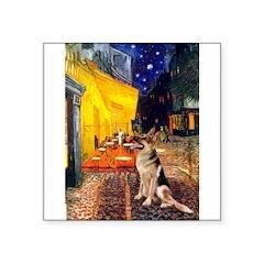 Cafe / G-Shephard Square Sticker 3