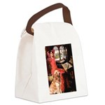 The Lady's Golden Canvas Lunch Bag