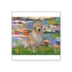Lilies & Golden Square Sticker 3
