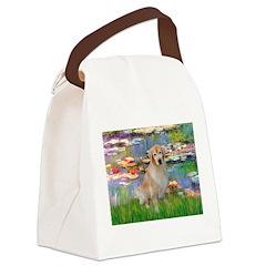 Lililes (#2)-Golden 10 Canvas Lunch Bag