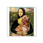 Mona's Golden Retriever Square Sticker 3