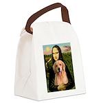 Mona Lisa/Golden #8 Canvas Lunch Bag