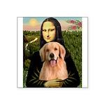 Mona Lisa/Golden #8 Square Sticker 3