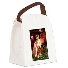 Angel & Golden Retrieve Canvas Lunch Bag