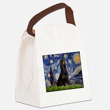 Starry Night & Gordon Canvas Lunch Bag