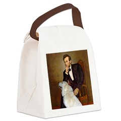 Lincoln / Great Pyrenees Canvas Lunch Bag
