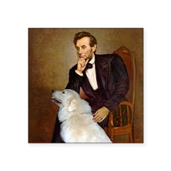 Lincoln / Great Pyrenees Square Sticker 3
