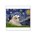 Starry / Gr Pyrenees Square Sticker 3