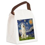 Starry Night / Pyrenees Canvas Lunch Bag