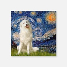 "Starry Night / Pyrenees Square Sticker 3"" x 3"""
