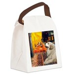 Cafe / Great Pyrenees Canvas Lunch Bag