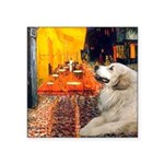 Cafe / Great Pyrenees Square Sticker 3