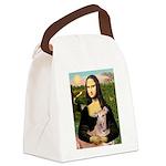 Mona Lisa / Greyhound #1 Canvas Lunch Bag