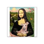 Mona Lisa / Greyhound #1 Square Sticker 3
